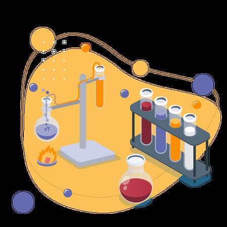 Chemistry Study Illustration