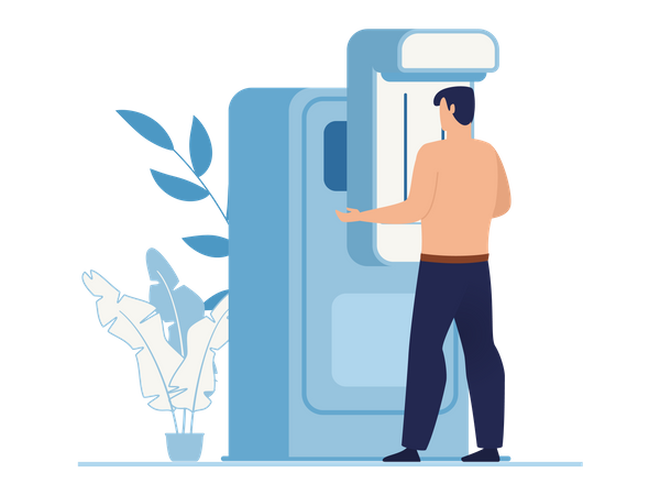 Chest X-ray machine Illustration