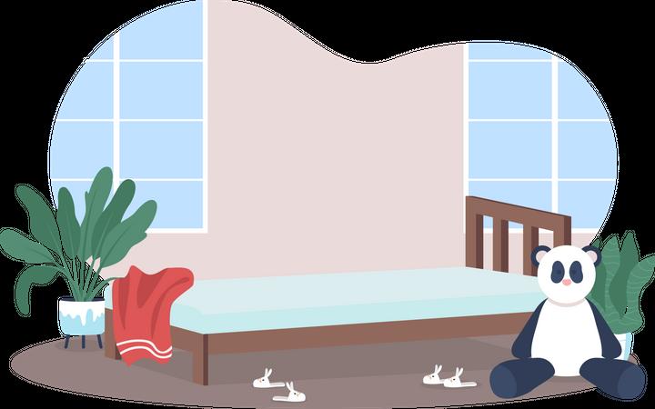 Children bedroom Illustration