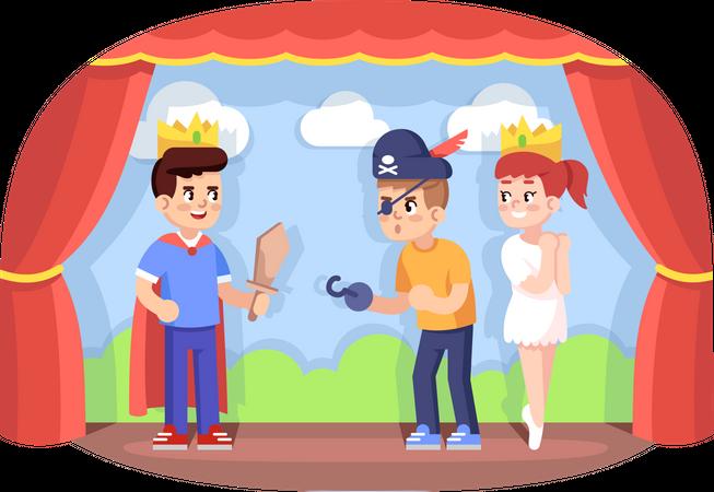 Children drama club Illustration