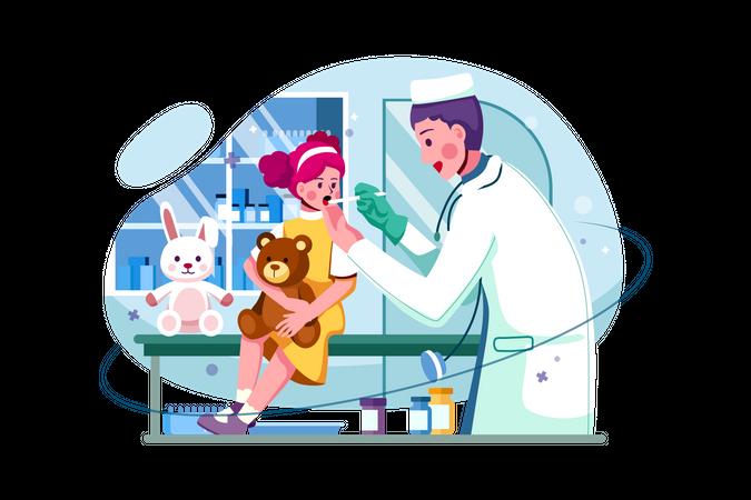 Children hospital Illustration