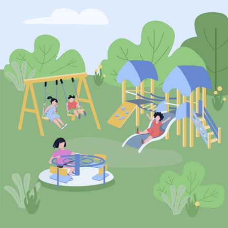 Children play zone Illustration