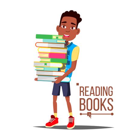 Children Reading Books Illustration