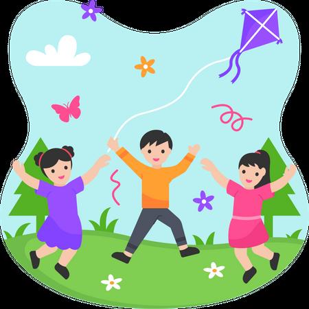 Children's Day Celebration Illustration