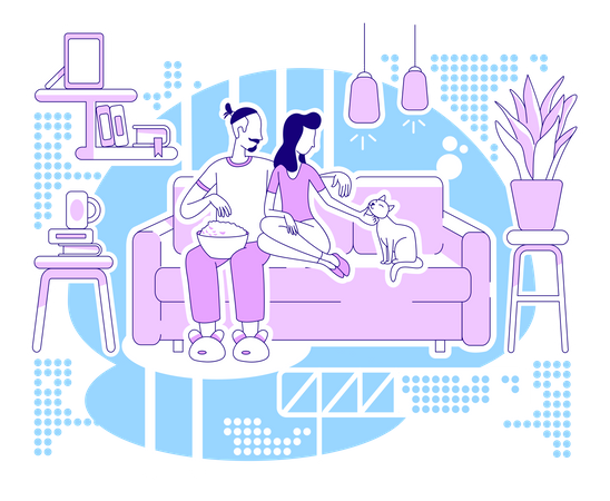 Chill at home Illustration