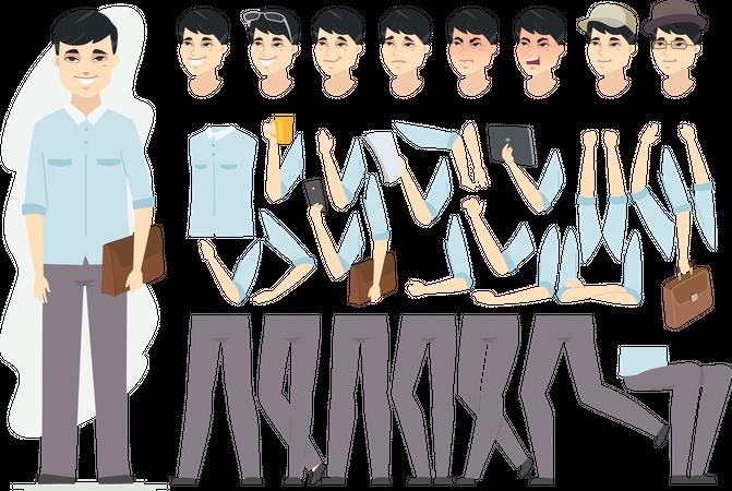 Chinese man Illustration