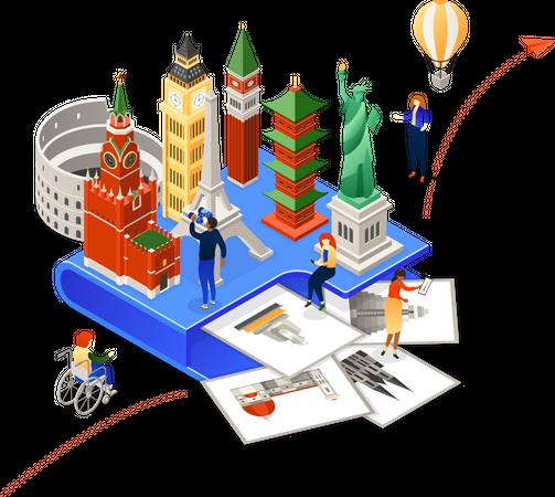 Choose your travel destination Illustration