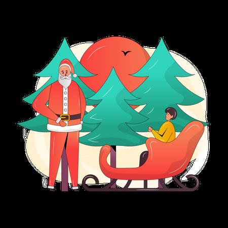 Christmas Adventure Illustration