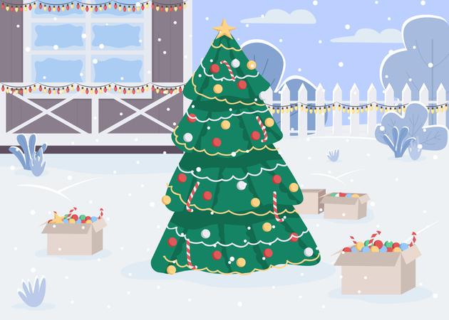 Christmas Day Illustration