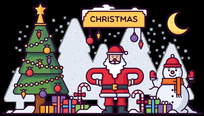 Christmas Festival Illustration