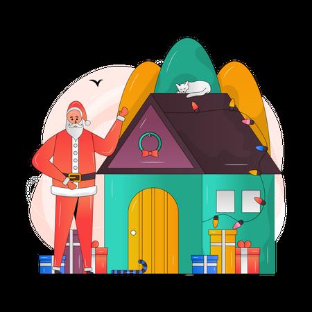Christmas House Illustration