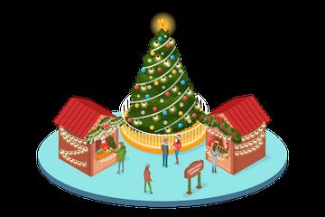 Christmas Fair Illustration Pack