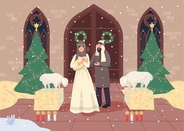 Christmas nativities Illustration