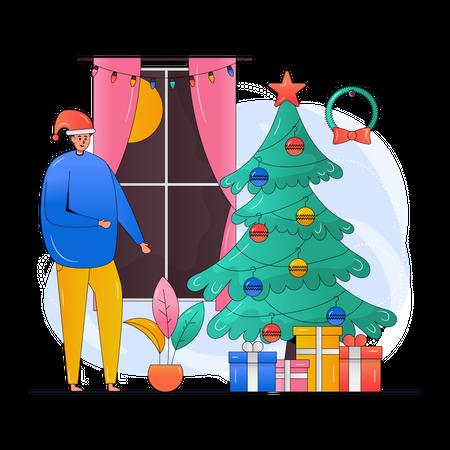 Christmas Room Illustration