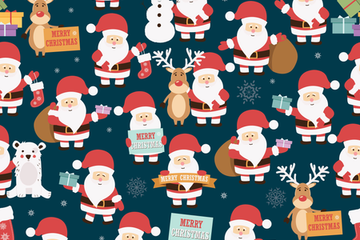 Merry Christmas And Happy New Year Illustration Pack