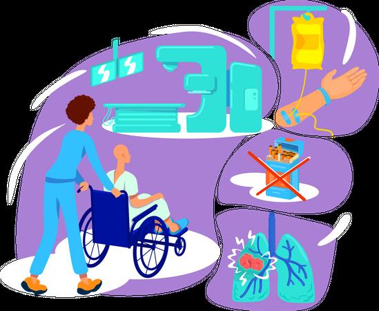 Chronic disease therapy Illustration