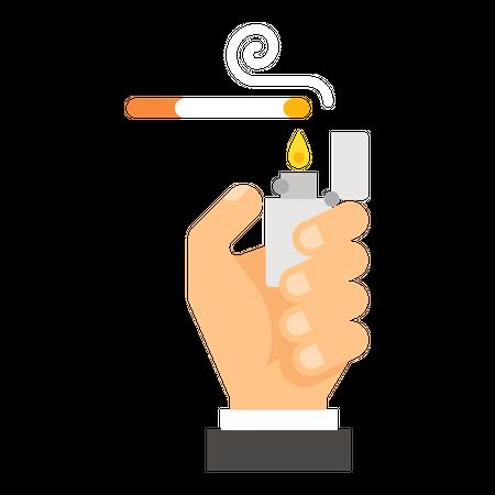Cigarette lightning Illustration