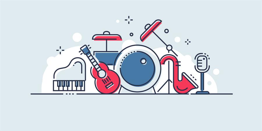 Cinema and music Illustration