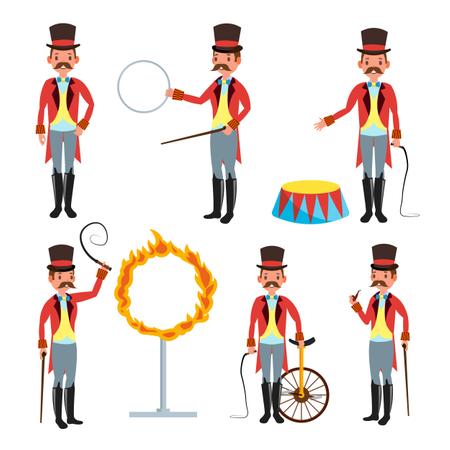 Circus Trainer Vector Illustration