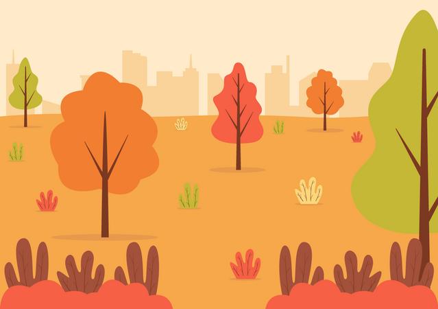 City Garden Illustration