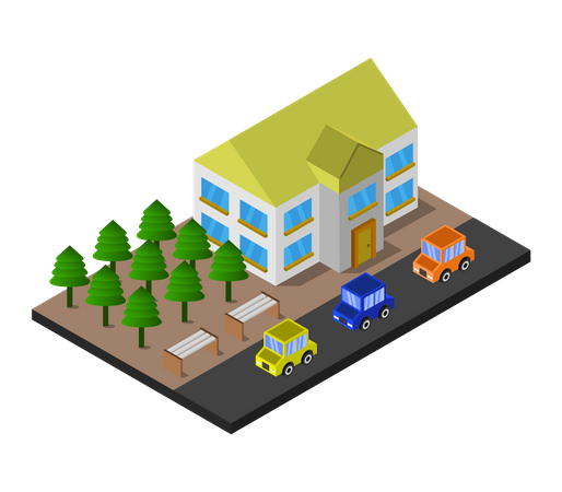 City house Illustration