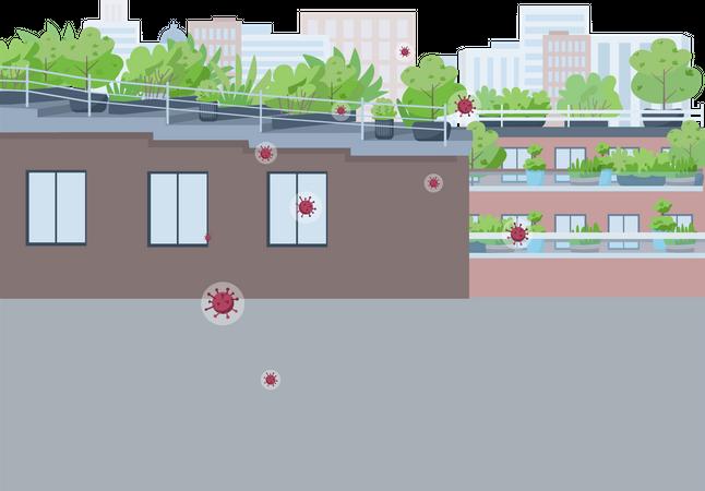 City quarantine Illustration