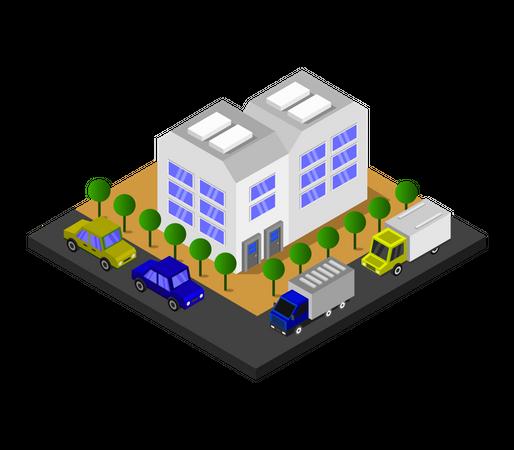 City store Illustration