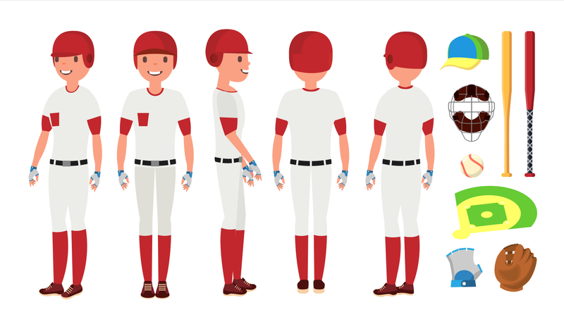 Classic Baseball Player Illustration