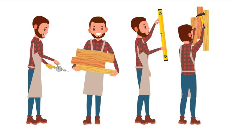 Classic Carpenter Illustration