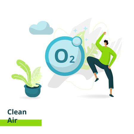 Clean air Illustration