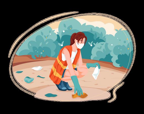 Clean Garbange Illustration
