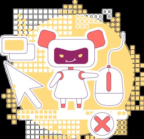 Click bot Illustration
