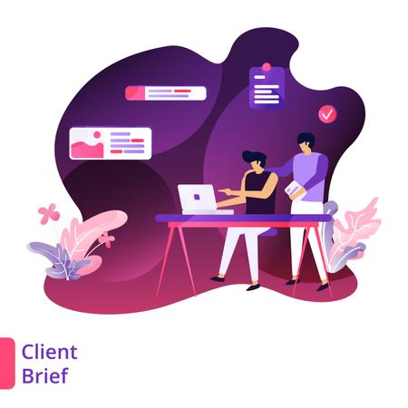Client Brief Illustration