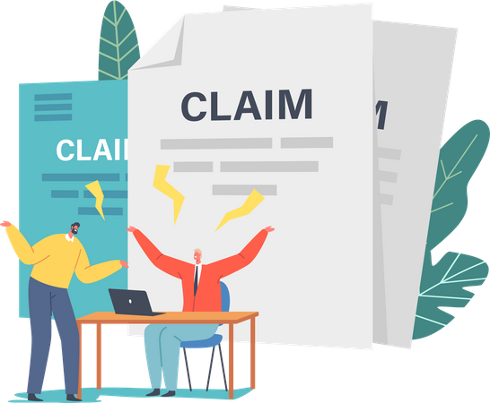 Client Fighting with Agent Claim Insurance for Accident Illustration