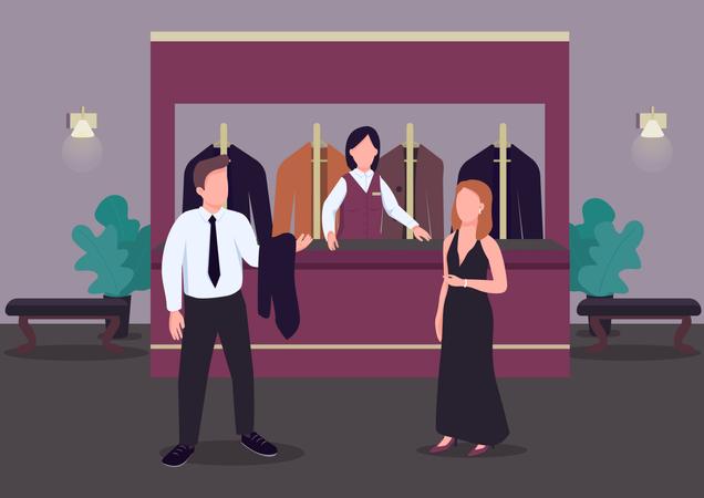 Cloakroom Illustration