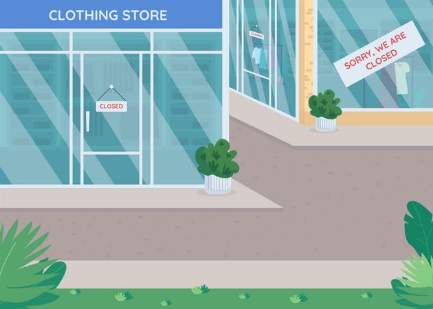 Closed stores Illustration