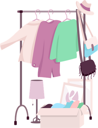 Clothes rack Illustration