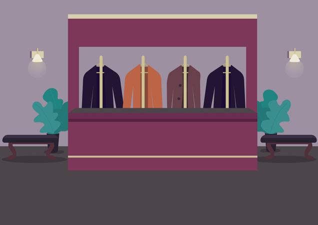 Clothes room Illustration