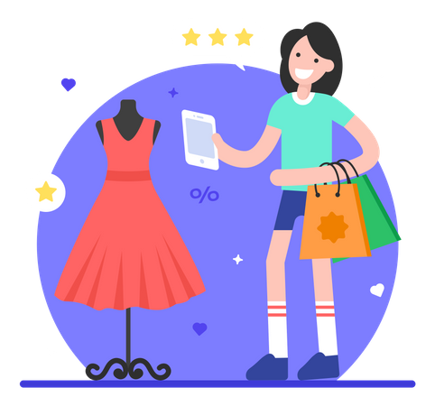 Clothes Shopping Illustration