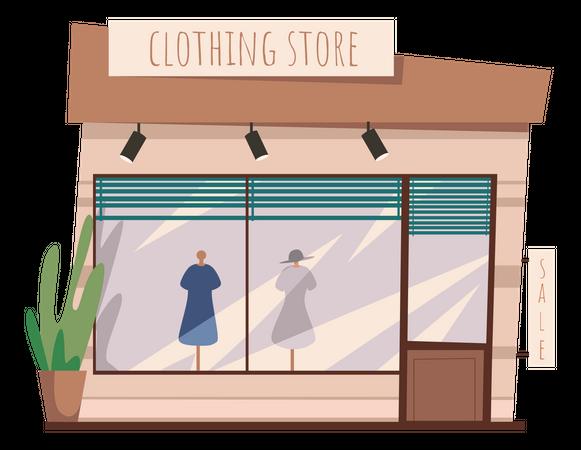 Clothing Store Illustration