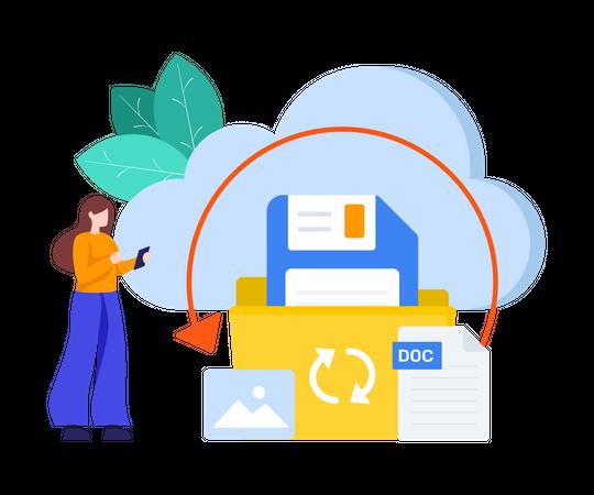 Cloud Backup Illustration