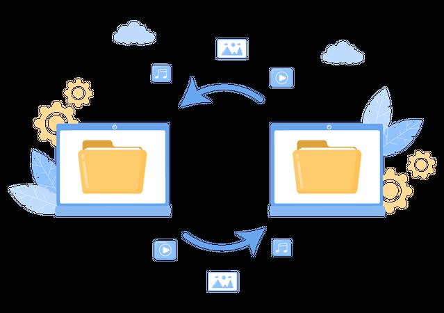 Cloud Backup Storage Illustration