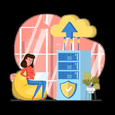 Cloud Data Center Illustration