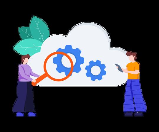 Cloud Data Management Illustration