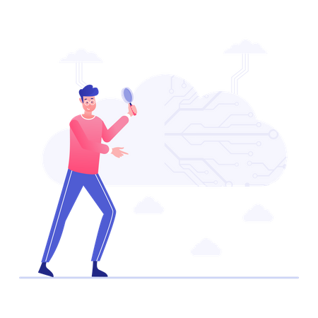 Cloud Data Research Illustration