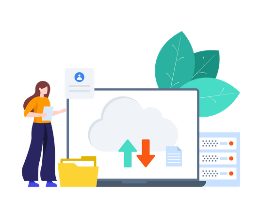 Cloud Data Transfer Illustration