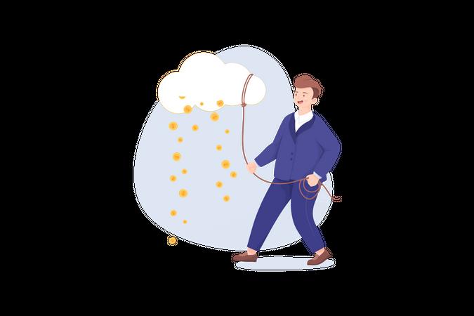 Cloud earning Illustration
