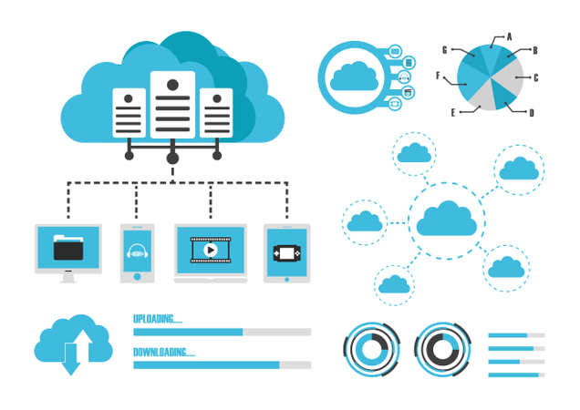 Cloud Infographics Illustration