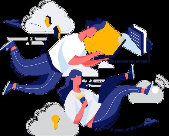 Cloud management Illustration