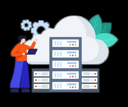 Cloud Server Illustration